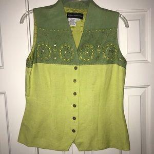 EUC Donna Morgan Vest Size 6.